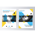 Cover design blue and yellow Template brochure vector image vector image