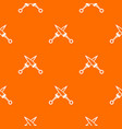 crossed japanese daggers pattern seamless vector image vector image