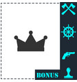 crown icon flat vector image vector image