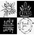 Design elements in tribal style vector image