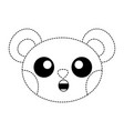 dotted shape surprised bear head cute animal vector image
