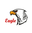 Eagle head mascot for sporting design vector image vector image