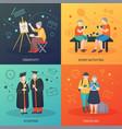 elderly people activities design concept vector image