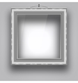 Empty frame on the wall for a picture or photo vector image vector image