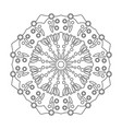 floral mandala isolated on white background vector image vector image