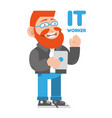 friendly hipster vector image