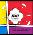 handmade 2 font on the page of the comic strip vector image