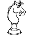 horse chess cartoon coloring page vector image vector image