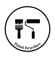 Icon of construction paint brushes vector image vector image