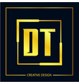 initial letter dt logo template design vector image vector image