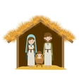 Isolated holy family and nativity design vector image