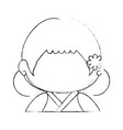 japanese girl icon vector image vector image