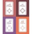 label for chocolate latte cappuccino cocoa vector image