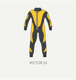 line flat color diver underwater equipment vector image
