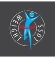 logo running man for weight loss vector image vector image