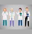 medical doctors on transparent background vector image vector image