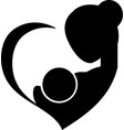 mother breastfeeding her baby symbol vector image