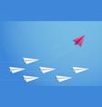 paper plane concept changes direction different vector image vector image