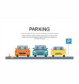 parking lot design park icon vector image vector image