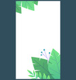 plant flat minimal template for stories green vector image vector image