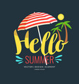 poster retro style lettering hello summer vector image vector image