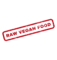 Raw Vegan Food Rubber Stamp vector image vector image