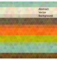 Retro colors polygon design vector image