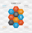 school icons set collection of paper education vector image vector image
