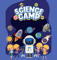 science camp logo with kids wearing engineer vector image vector image