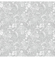 Seamless gentle gray-white floral pattern vector | Price: 1 Credit (USD $1)