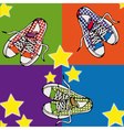 shoe background vector image vector image