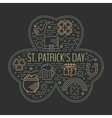 St Patricks day colorful line icons set vector image vector image