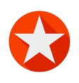 star icon long shadow flat design vector image vector image
