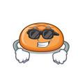 super cool hamburger bun character cartoon vector image