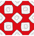 sushi seamless pattern design element with vector image vector image