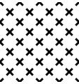 tile black and white x cross pattern vector image vector image