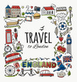 travel to england greeting card for your design vector image vector image