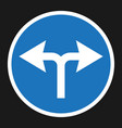 turn left or right traffic sign flat icon vector image