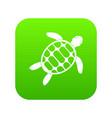 turtle icon digital green vector image vector image