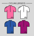 types cycling jerseys vector image