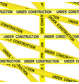 Under construction caution tape entrance vector image