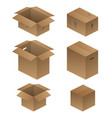 various shipping packing and moving boxes vector image vector image