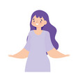 young woman character female standing isolated vector image vector image