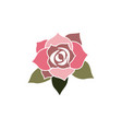 rose flower logo template vector image
