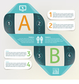 Infographic - process comparison of categories vector image