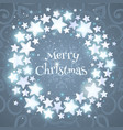 christmas wreath circle composition with shining vector image