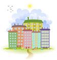 spring cute cityscape vector image
