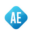 ae letter logo design with simple style