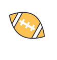 american football ball flat line vector image
