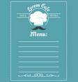 bakery cafe menu template vector image vector image